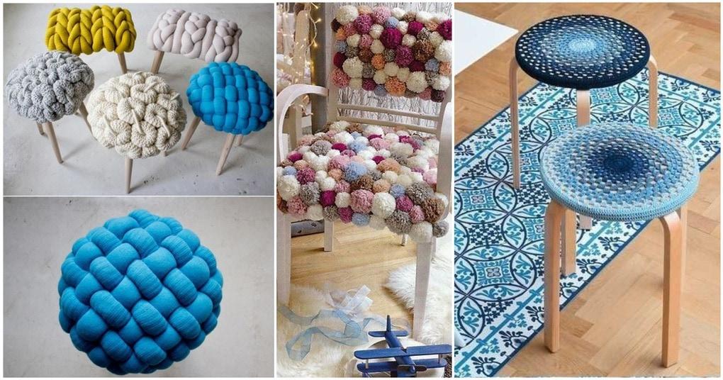 Необычные и удачные идеи чехлов для табурета