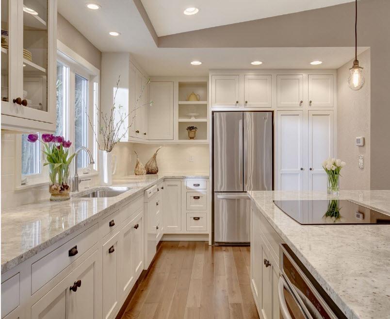 неравнодушным кухни с белыми столешницами фото то, что