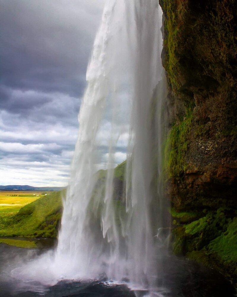 Завораживающий водопад Сельяландсфосс, Исландия катаклизмы, природа, растительность