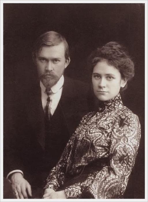 Юлия Прошинская и Борис Кустодиев.