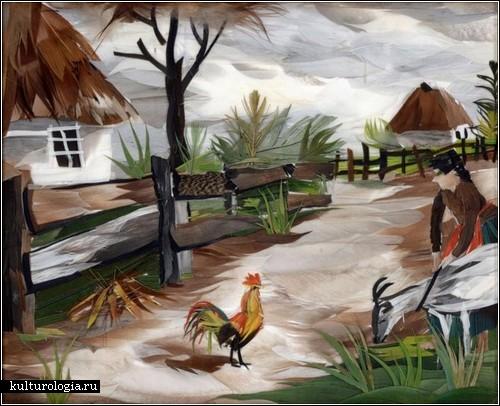 Картины из перьев от Марины Нестеровой.