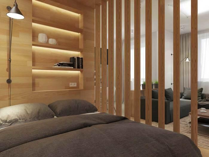 Как зонировать пространство в комнате с помощью межкомнатных перегородок