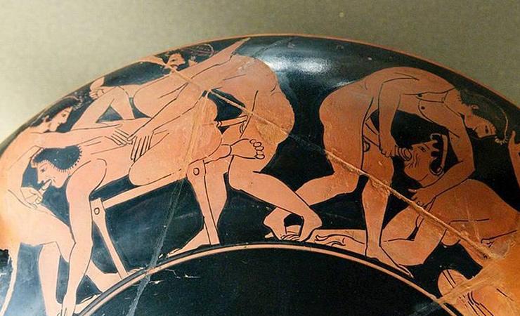 Амфора сэротическими сюжетами, ок. 510 дон.э.