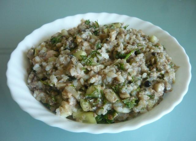 Теплый рыбный салатик