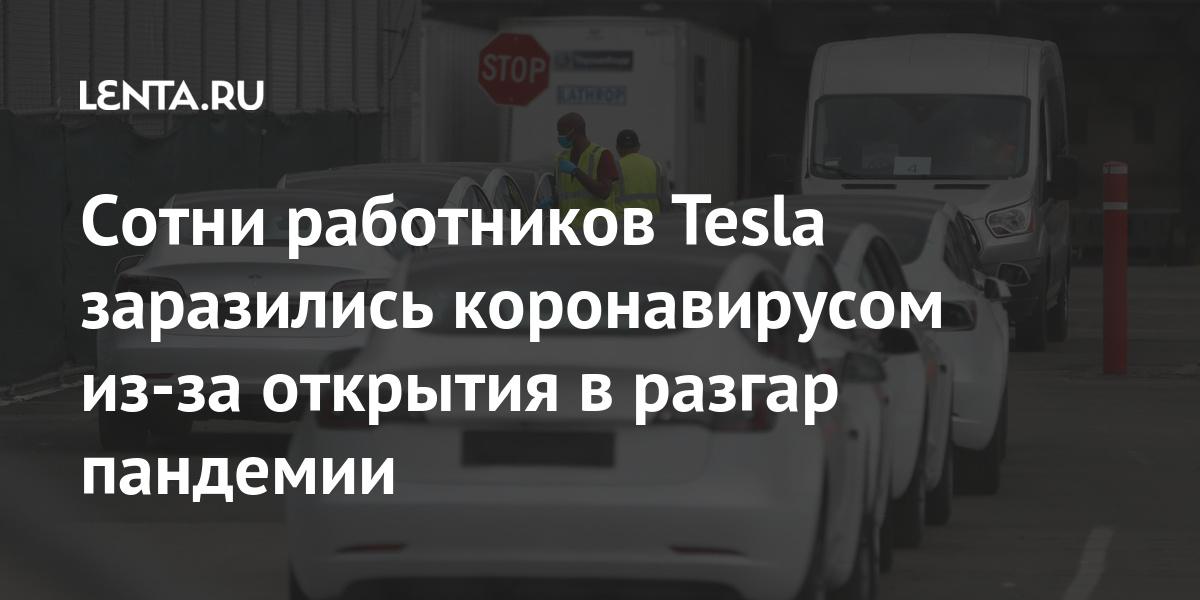 Сотни работников Tesla заразились коронавирусом из-за открытия в разгар пандемии Экономика