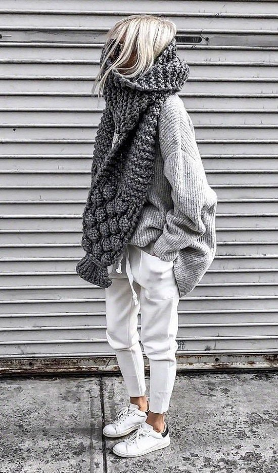 35 идей, как носить шарф в этом сезоне фото №5