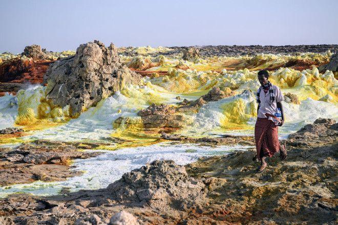 Долина смерти в Эфиопии: как выглядит самое безжизненное место на планете мир,туризм