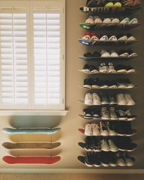 Молодежные способы хранить обувь (подборка)