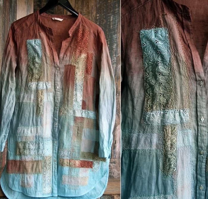переделка рубашки с коротким рукавом