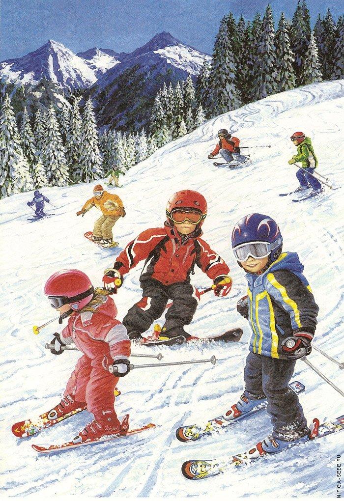 Картинки зимних детских игр