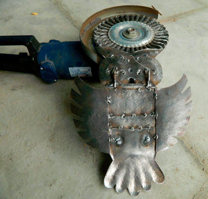 Поделки из металла металла, таким, сделайте, приварите, ножницы, помощью, проволоки, металлу, лепестка, лепестков, голову, болгарка, металлаВам, затем, стеблю, деталь, толщиной, детали, зачистите, образом