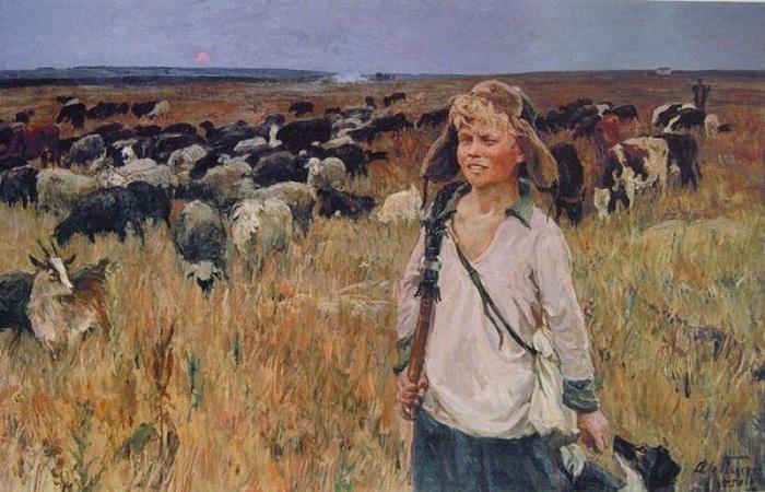 «Витя-подпасок». 1951<br>Государственный Русский музей. Автор: А.А.Пластов.