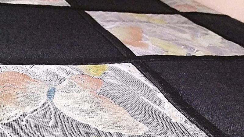 Какк легко сделать лоскутное покрывало из драпа и тюля