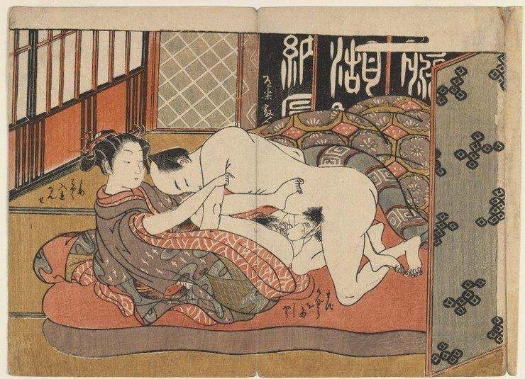 Влюбленная пара, Исода Корусаи, 1767 - 1778