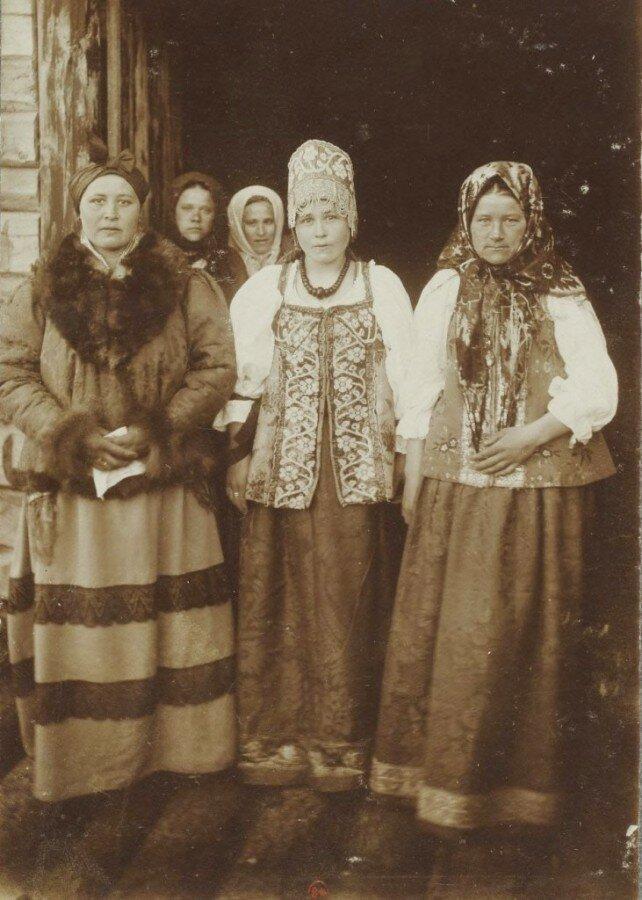 Невеста с родней Николай Шабунин, история, мезенский уезд, россия, русский север, фотографии
