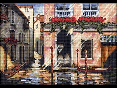 """Вышивка """"Утро в Венеции"""" (panna) —  готовая работа"""
