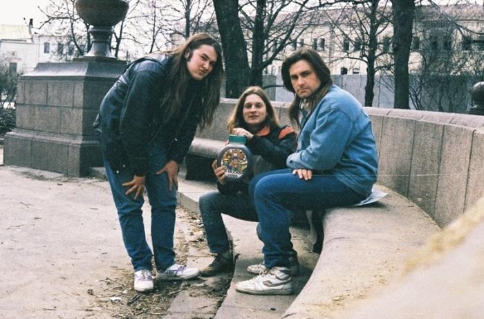 Московская молодежь в парке. СССР, 1989 год.