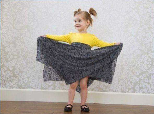 Платье для девочки за час