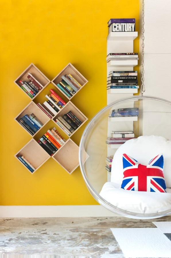 Оригинальная конструкция для книг