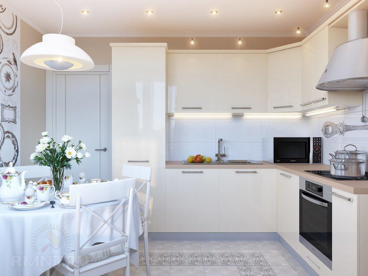 Картинки кухня интерьер белая