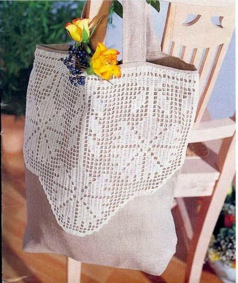 Сумки в филейной технике - стильная альтернатива классическим авоськам вязание,сумки