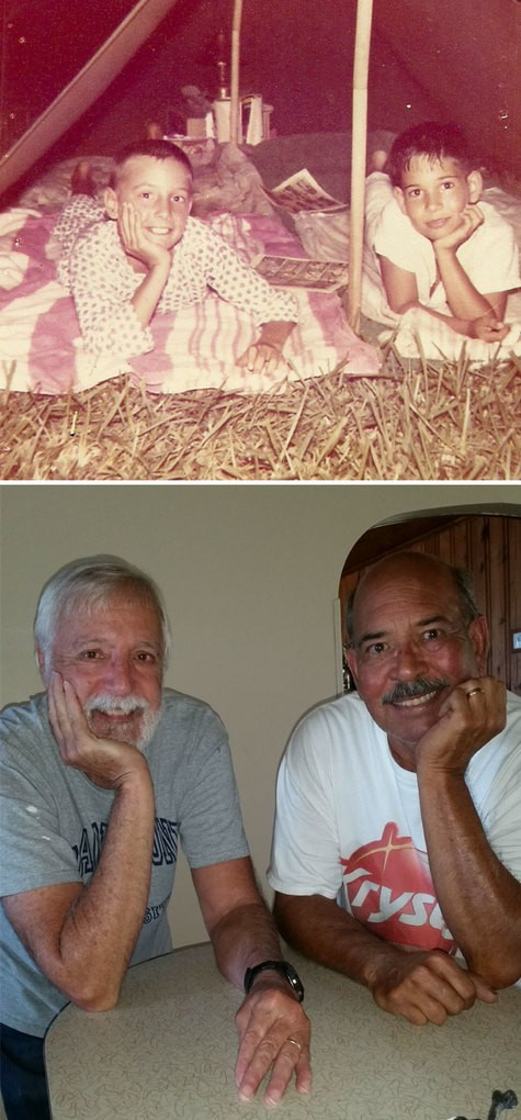 Then And Now. Best Friends, 59 Years Later