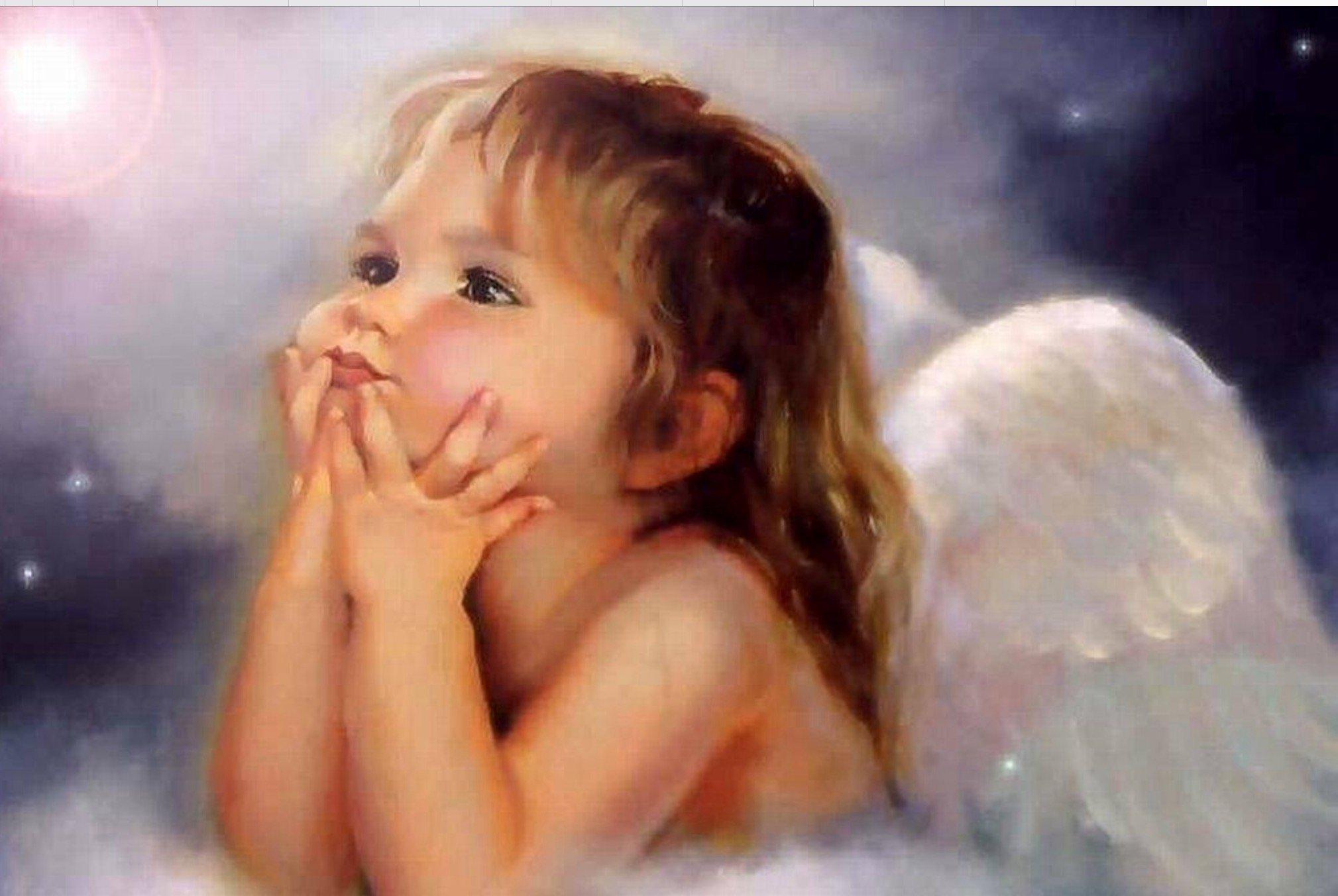 Смешные картинки, открытка ангел ребенок