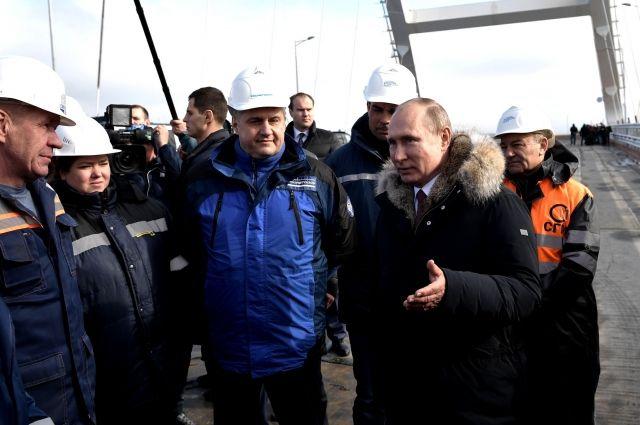 Путин заявил, что приедет на открытие Крымского моста