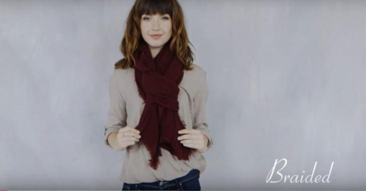 52 способа интересно завязать шарф