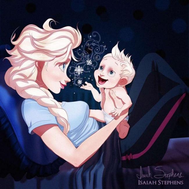 Как бы выглядели принцессы Disney, если бы стали мамами