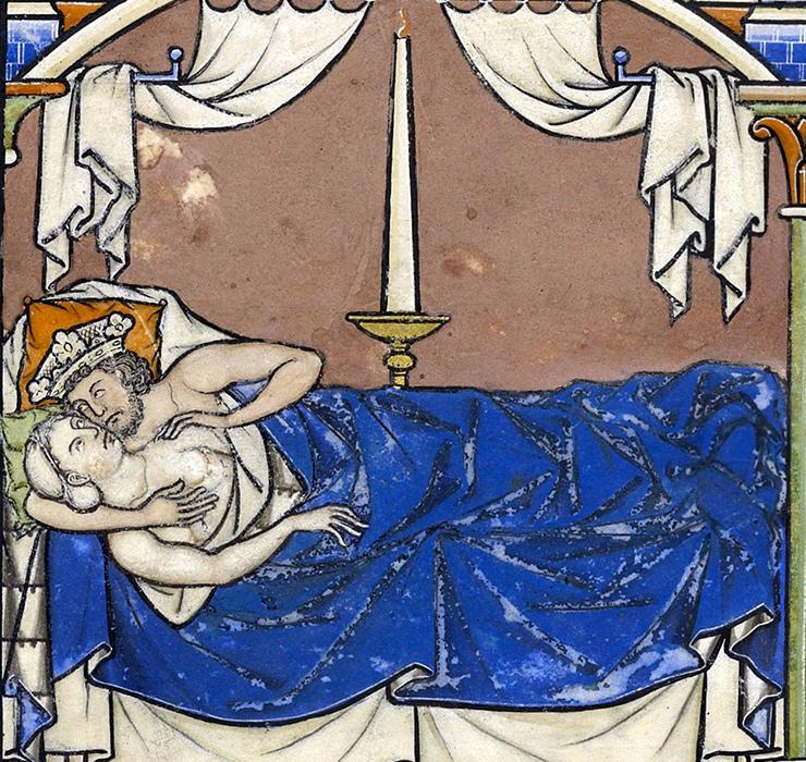 Королевская спальня, Библия Мацеевского, Париж, ок. 1240 г.