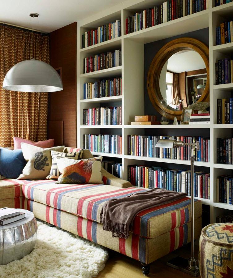 комната с полкой картинки более легкий нежный