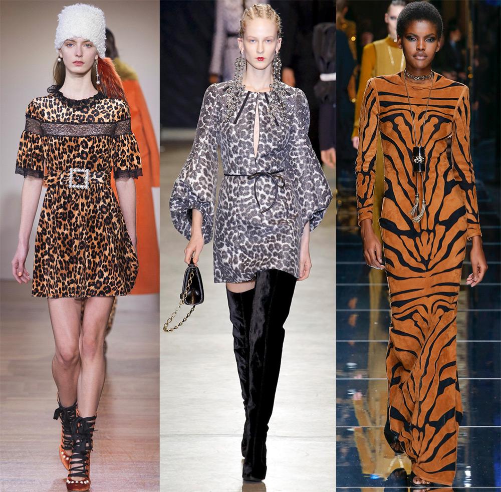 Леопардовый и тигровый принт