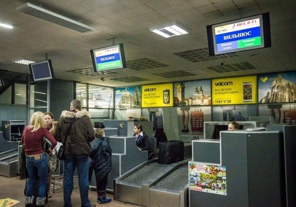 В аэропорту Вильнюса пассажи…