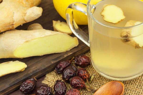 Имбирный чай - прекрасное потогонное и согревающее средство
