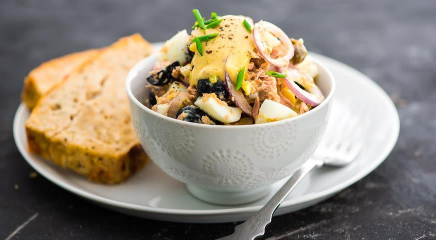 Салаты с тунцом консервированным, рецепты и секреты приготовления салаты