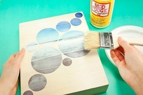Необычная идея для создания картин со своими любимыми фотографиями искусство,сделай сам