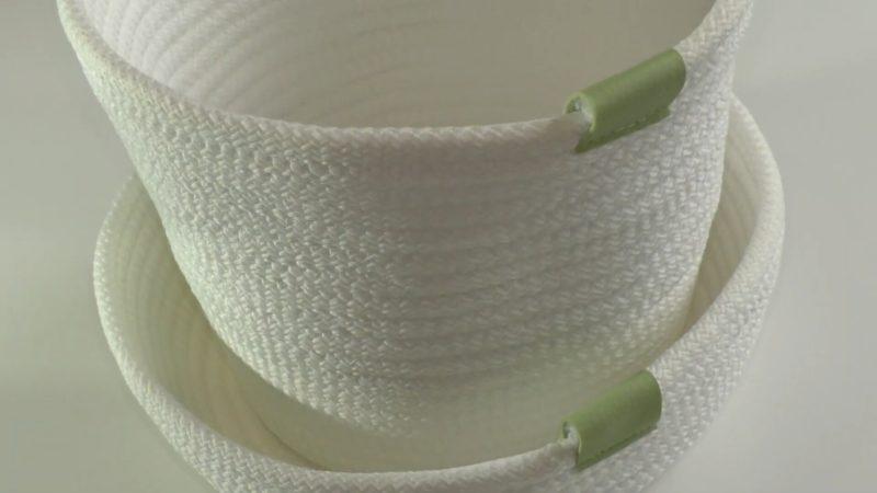 Бюджетная идея для уюта: интерьерная корзинка из шнура интерьер,рукоделие,своими руками,сделай сам