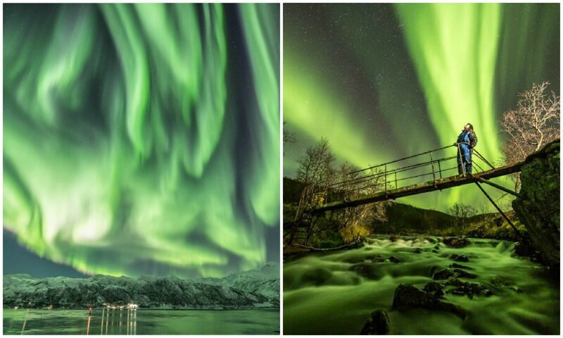 Магия северного сияния: лучше один раз увидеть, чем сто раз услышать! красиво, красивый вид, мир, норвегия, природа, северное сияние, фото, фотограф