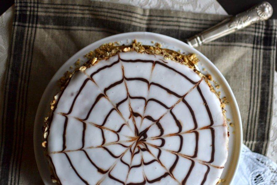 Торт «Кружевница» с хрустящими коржами без муки десерты,торты