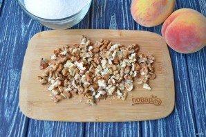 Варенье из персиков с грецкими орехами десерты,заготовки