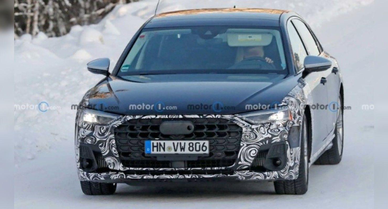 Новую Audi S8 заметили на зимних тестах с минимумом камуфляжа Автоновинки