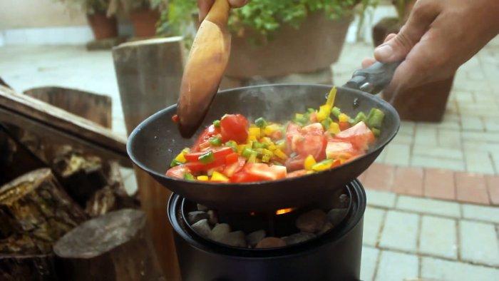 Как сделать мини печь для уличной готовки