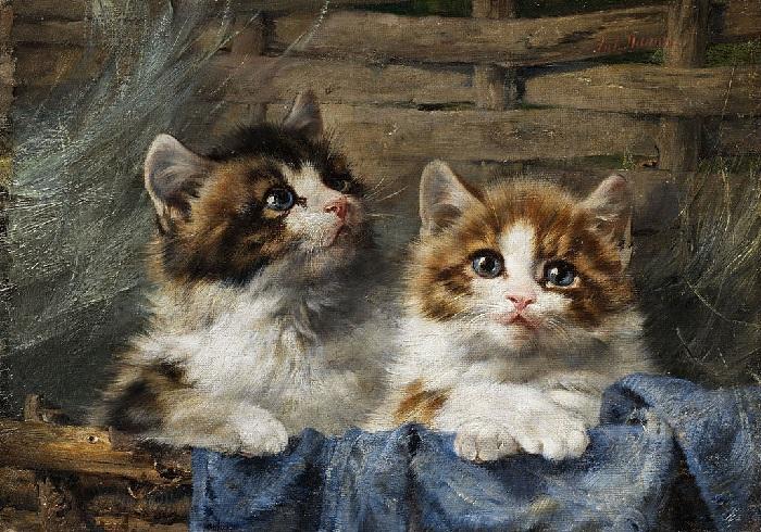 «Котята в корзинке». Автор: Генриетта Роннер-Книп.