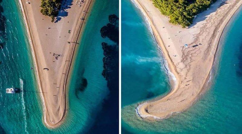 Так выглядит после шторма хорватский пляж Златни-Рат