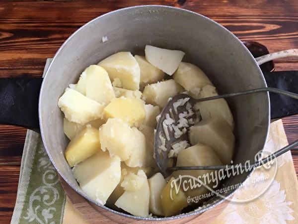 потолочь картошку