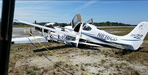 Чудом никто не пострадал в невероятной аварии двух однотипных самолетов
