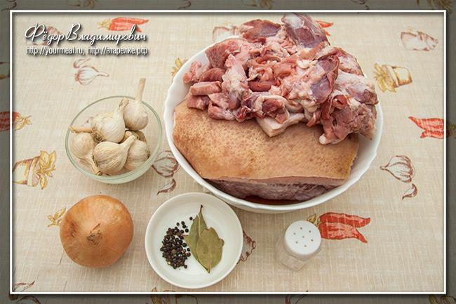 Прессованное мясо свиных голов