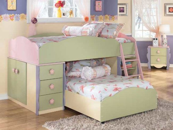 выкатная двухъярусная кровать