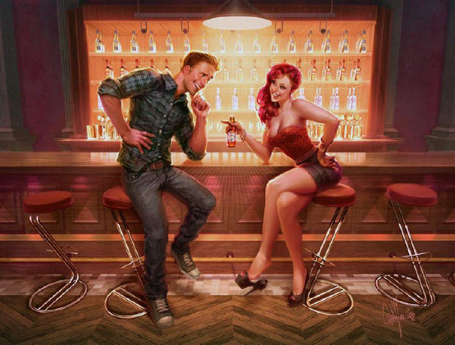 Картинка девушка и парень смешная
